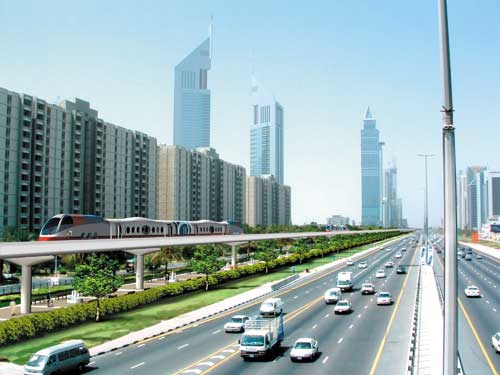 Dubai Rail - Shake Zayed road