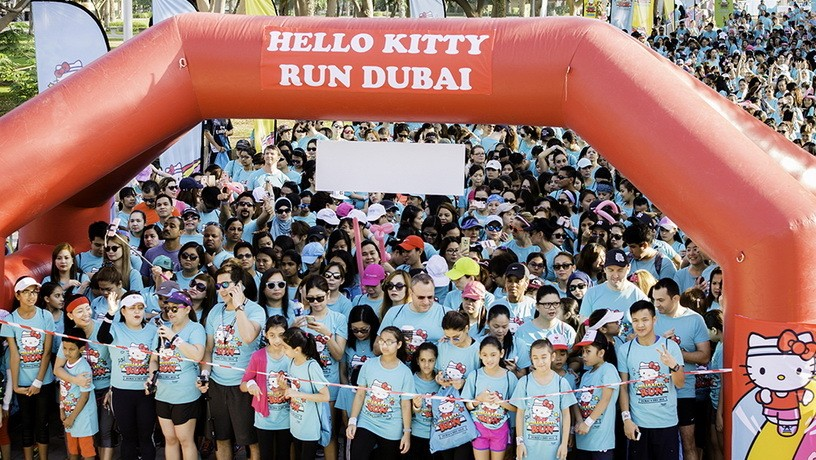 ​Забег Hello Kitty Run Dubai 2017, Дубай, ОАЭ