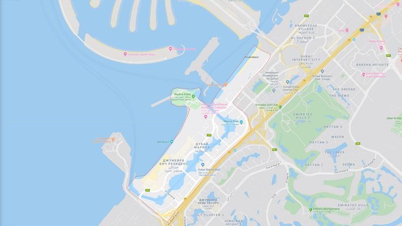 Дубай марина на карте аренда апартаментов в дубае на берегу моря