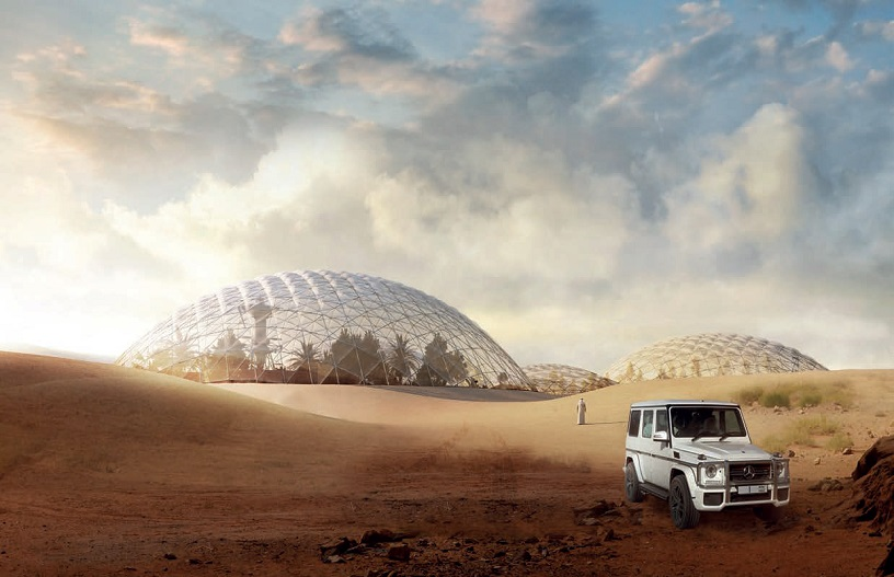 Mars Science City Projectby Bjarke Ingels Group