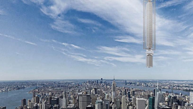 В Дубае хотят построить первый висящий в воздухе небоскреб